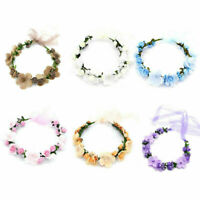 Flower Headband Head Garland Hair Band Crown Wreath Boho Hippy Wedding Ch B.zPyl