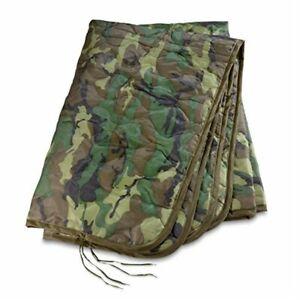 Poncho Liner Woodland US Military Woobie Mil Spec GI Style with Bag Army USMC