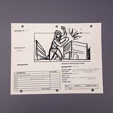 ATTACK OF THE 50FT WOMAN Production Used Storyboard, Daryl Hannah Attacks Roof