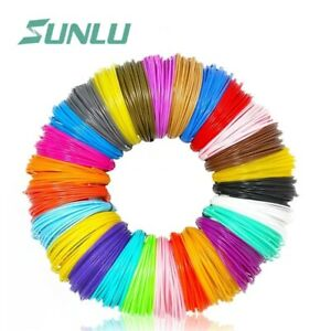 3D Pen printer Printing PLA Filament 1.75mm 10 Colors 5M each include 2 Luminous