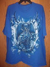 Monster Dog n skull  XL t shirt  blue