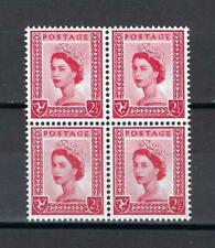 Isle of Man 1964 Sc# 1 Manx emblem 2.5p Queen Elizabeth GB Britain block 4 MNH
