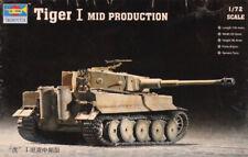Trumpeter 1:72 WWII German Tiger I Mid Production Plastic Model Kit #07243
