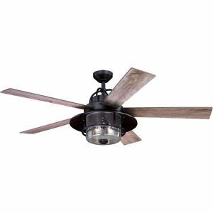 Vaxcel F0044 Charleston Indoor Ceiling Fan New Bronze