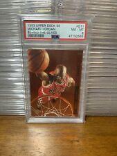1993-94 Upper Deck SE Behind The Glass #G11 Michael Jordan PSA 8 Chicago Bulls