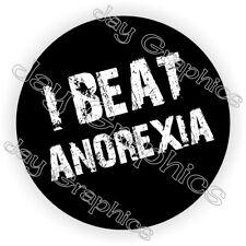 I Beat Anorexia Funny Hard Hat Sticker / Motorcycle Welder Helmet / Vinyl Decal