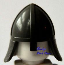 NEW Lego Minifig Dark GRAY HELMET  w/Neck Protector Castle Knights Kingdom Hat
