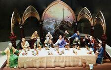 Thomas Kinkade Last Supper Jesus/6 Disciples / Table /Back Set Lights*/Hawthorne