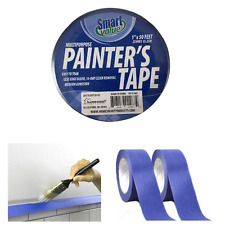 "2pk Paint Tape Rolls Painters Blue Masking 1""x16Yd Multi Surface Premium Grade"