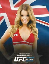 Kahili Blundell Official UFC 8.5x11 Photo Promo Card 2014 Fan Expo Picture Girl