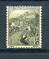 "MONACO STAMP TIMBRE N° 32 "" 1F+1F NOIR S.JAUNE "" ,NEUF xx TTB, COTE + 605€"
