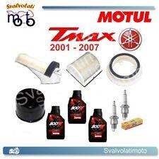 KIT TAGLIANDO TMAX 2004 3 LITRI MOTUL 300V + FILTRI ARIA + FILTRO OLIO + CANDELE