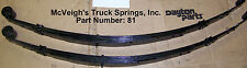 "REAR LEAF SPRINGS 70-73 CUDA, 1970-1974 CHALLENGER WITH 2"" LIFT"