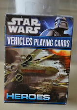STAR WARS HEROES VEHICLES PLAYING CARDS BRAND NEW AND SEALED
