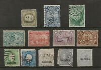 MADEIRA Stamp Collection 1868-1898 on Stockcard, SC #? Portugal MINT and USED