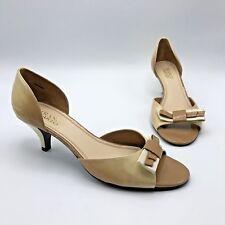 68de1c24c4e Franco Sarto Lady Women Beige Open Toe Heel Bow Shoe Size 8.5M Pre Owned