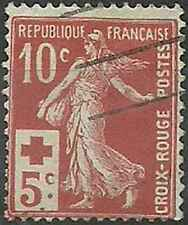Timbre France Croix rouge semi moderne 147 o lot 21576