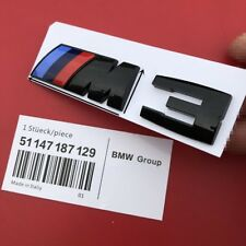 Glossy Black BMW M3 Car Emblem Badge Rear Boot FOR M3 320 325 E36 E46 E90 E92
