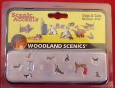 Woodland Scenic Accents A1881 Dogs & Cats Miniatures New In Box