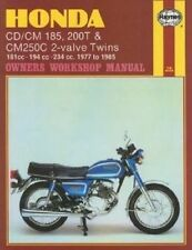 New Honda CD/CM185 200T & CM250C 2-valve Twins (77 - 85) Haynes Repair Manual