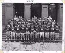 RARE 1947 HILLHOUSE FOOTBALL TEAM 8 X 10 SIGNED PHOTO, NEW HAVEN, CONN