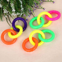 Three Color Ring Pet Molar Tooth Cleaning Bite Resistant Dog Chew  Novelty