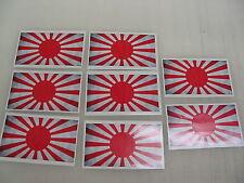 8 JAPAN FLAG Sticker Decal LOT 4 car Window Truck suv Wholesale Vintage Japanese