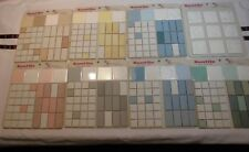 Vintage *SunTile* Ceramic Tile Color Samples Chart - Box *Salesman 8 Board Box*