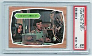 1971 Topps Brady Bunch #29 Homework Huddle PSA 7