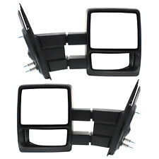 New Set of 2 Manual Non-Heated Towing Mirror Black for Ford F-150 2004-2014 Pair