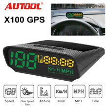 Autool X100 Car GPS Digital Head-Up Display Alarm Speedometer KMH/MPH Gauges