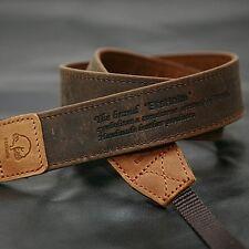 MATIN D-SLR RF Mirrorless Camera Vintage-30 Leather Neck Shoulder Strap Brown
