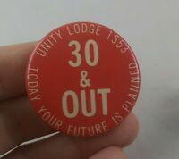 Vintage UNITY LODGE 1553 Union Club pin button pinback *EE83