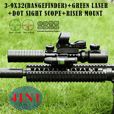 3-9X32Eg Illuminated Rifle Scope Hd119 Red & Green Dot Reflex Green Laser Sight.