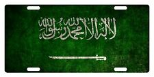 Saudi Arabia Flag Custom License Plate Kingdom Of Saudi Arabia Emblem Version 2