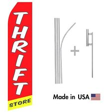 Thrift Store Econo Flag 16ft Advertising Swooper Flag Kit with Hardware