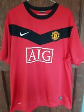 MANCHESTER UNITED NIKE HOME SHIRT 2009-10, MENS SIZE XXL, GOOD CONDITION
