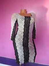 Victoria's Secret Very Sexy Lace Collection Dress Black - White SizeX-SMALL