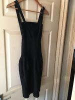 Womens Black Whistles Body Con Strappy Party Dress. Size 4