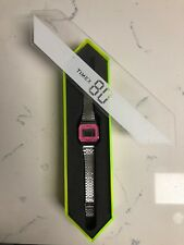 Timex Indiglo w/ Case 80's Retro Style Chronograph Stainless Steel