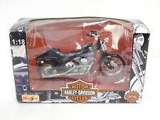 Maisto Harley Davidson 1/18  FXSTB BAD BOY Collectible Motorcycle Blue