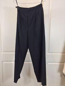The Row Wool Silk Wide Leg Elastic Waist Pants SzS