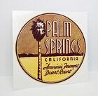 Palm Springs, California 1950's Vintage Style Travel Decal / Vinyl Sticker