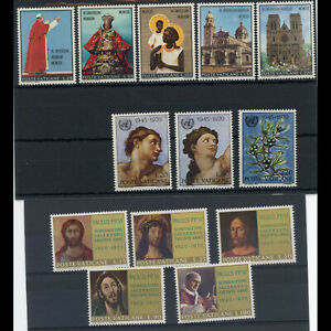 VATICAN 1970 3 Sets. Mint Never Hinged (WD079)