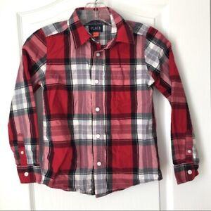 The Children's Place Boys Plaid Button Down Shirt