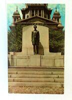 Springfield Illinois Abraham Lincoln Statue Postcard