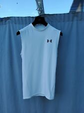 Under armour heat gear White Men's Sleeveless Top Compression Shirt Size L