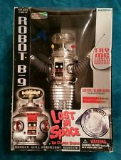 1997 Trendmasters LOST IN SPACE B9 CHROME ROBOT SPECIAL AND LIMITED ED. BLUE GUN