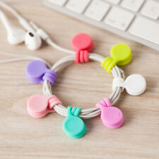 Magnetic Coils Earphone Wire Soft Silicone Holder Clip Organizer Cable Winder