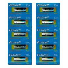 10 piles 23A EUNICELL - 12V Alcaline - MN21 A23 LRV08 E23A